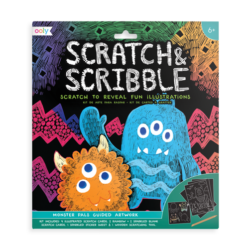 ooly - Monster Pals Scratch and Scribble Scratch Art Kit
