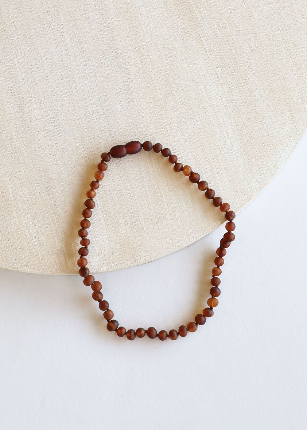 Canyon Leaf - Raw Cognac Amber Necklace - 13