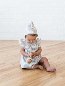 Quincy Mae Pixie Bonnet - Grey Stripe