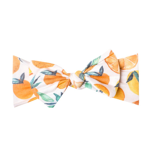 Copper Pearl - Headband Bow - Citrus