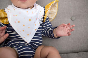 Copper Pearl Bib Set - Jewel