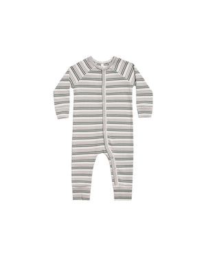 Load image into Gallery viewer, Rylee & Cru - Pajama Capsule - Forest Warm Grey Stripe Longjohn