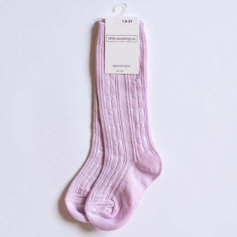 Little Stocking Co. - Lavender Purple Knee Highs