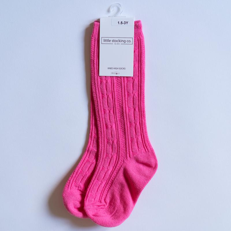 Little Stocking Co. - Hot Pink Knee Highs