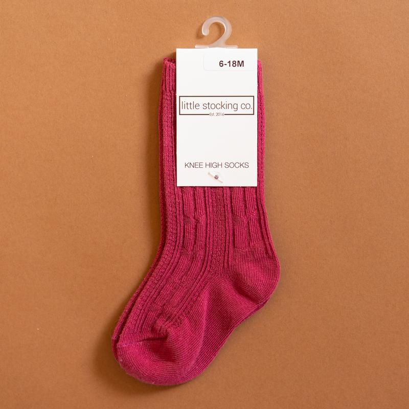 Little Stocking Co. - Raspberry Knee High Socks