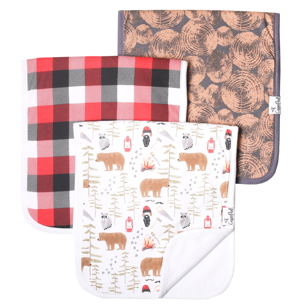 Load image into Gallery viewer, Copper Pearl Burp Cloth Set - Lumberjack