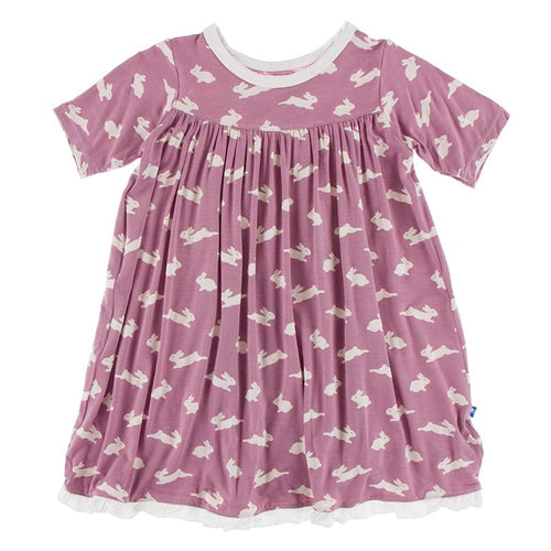 Kickee Pants - Year Round Celebrations - Print Classic Short Sleeve Swing Dress - Pegasus Bunny