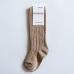 Little Stocking Co. - Oat Cable Knit Knee Highs
