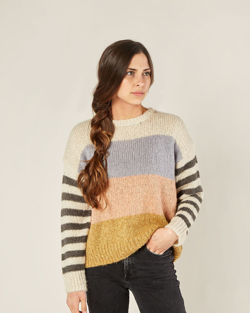 Rylee & Cru - Enchanted - Multi Color Stripe Aspen Sweater