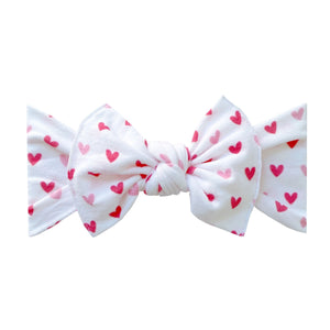 Load image into Gallery viewer, Baby Bling Bows - PRINTED KNOT - Love Letter