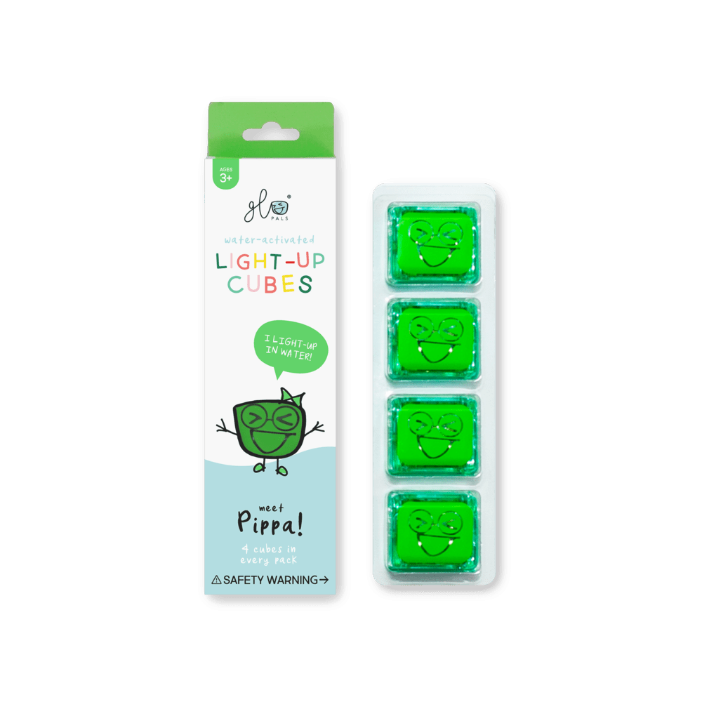 Glo Pals - 4 Pack Cubes - Green Pippa