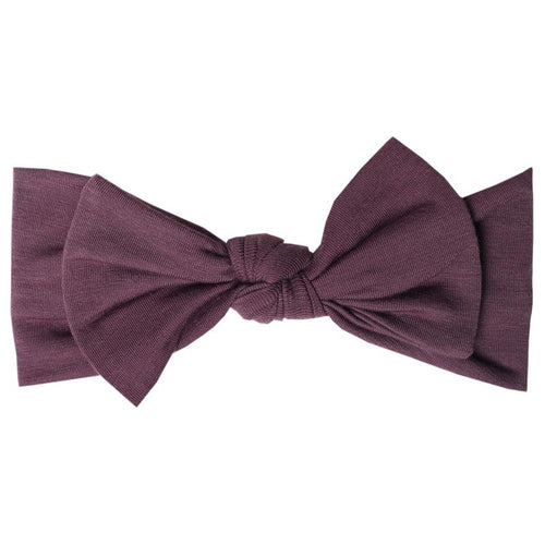 Copper Pearl - Headband Bow - Plum