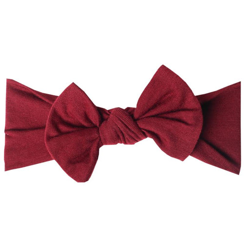 Copper Pearl - Headband Bow - Ruby
