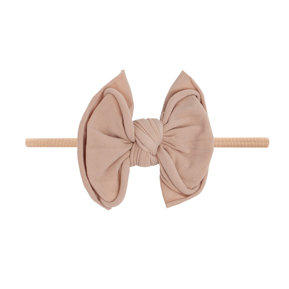 Baby Bling Bows - FAB-BOW-LOUS SKINNY - Blush with Blush Band