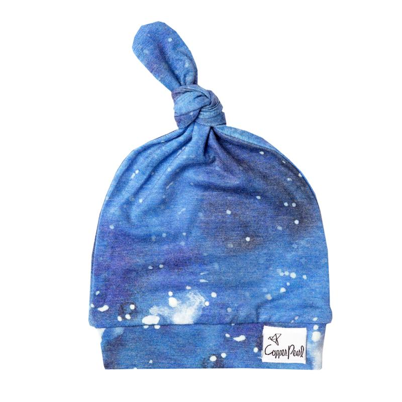 Load image into Gallery viewer, Copper Pearl Top Knot Hat - Galaxy