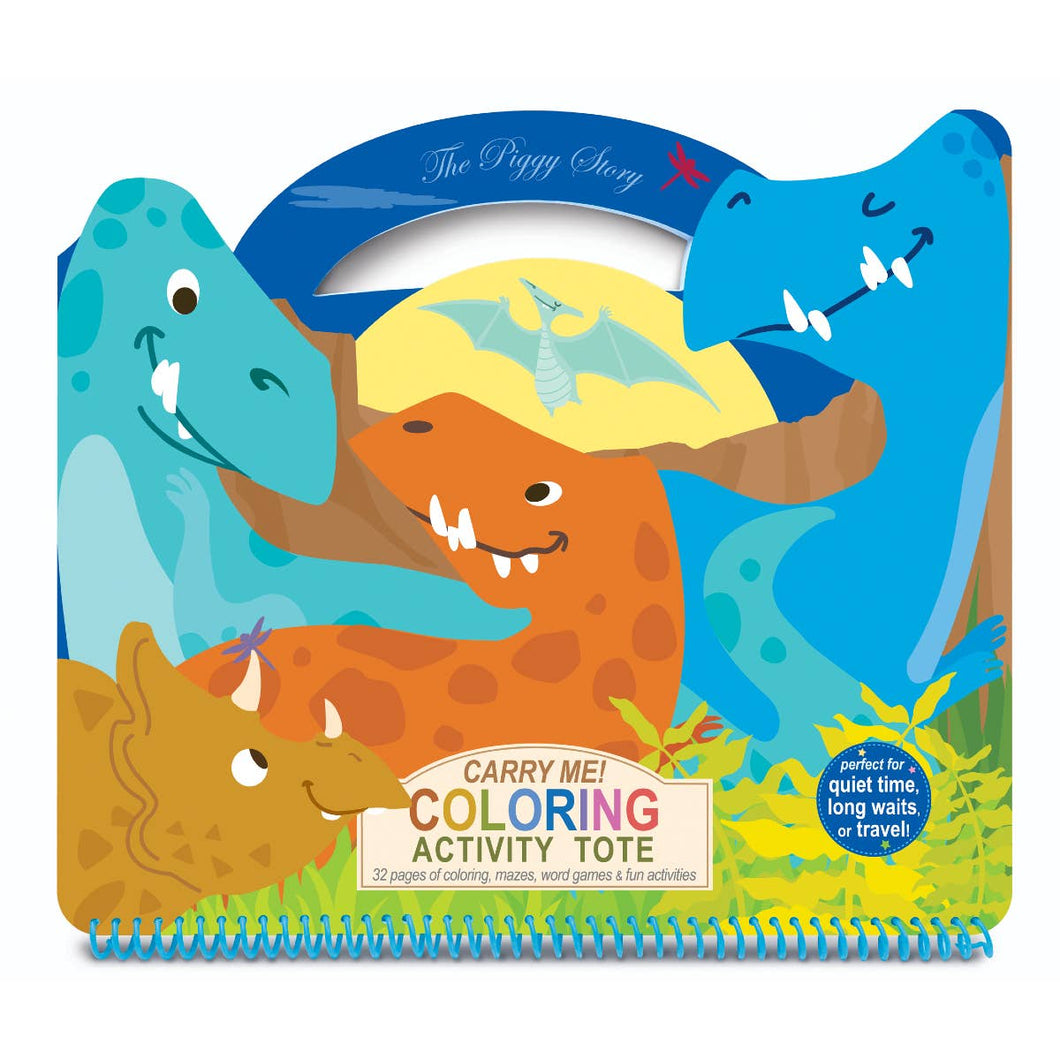 The Piggy Story - Carry Me! Dinosaur Coloring Activity Tote