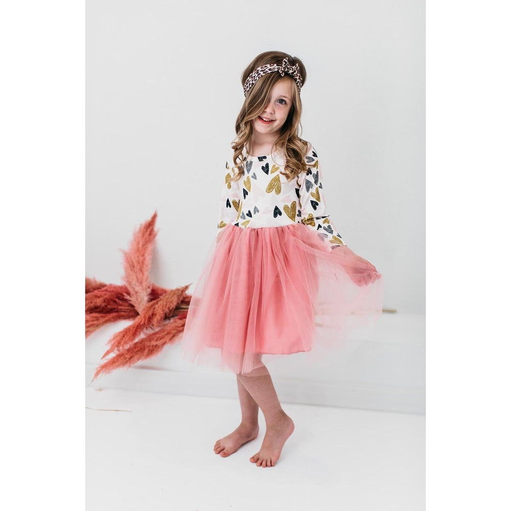 Load image into Gallery viewer, Mila & Rose - Pink I Heart You Tutu Dress