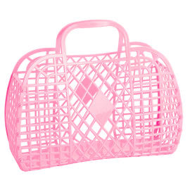 Sun Jellies - Large Retro Basket - Bubblegum Pink