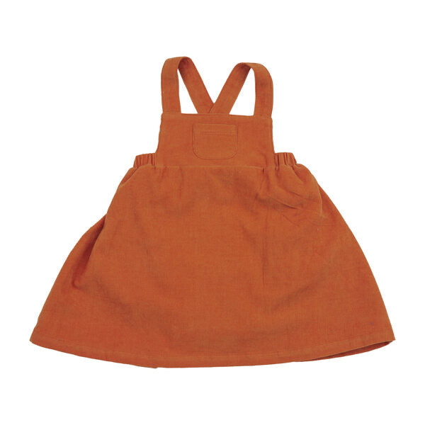 Angel Dear - AW20 - Rust Corduroy Pinafore Dress
