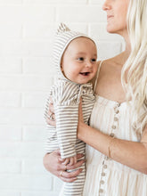 Load image into Gallery viewer, Quincy Mae Pixie Bonnet - Grey Stripe