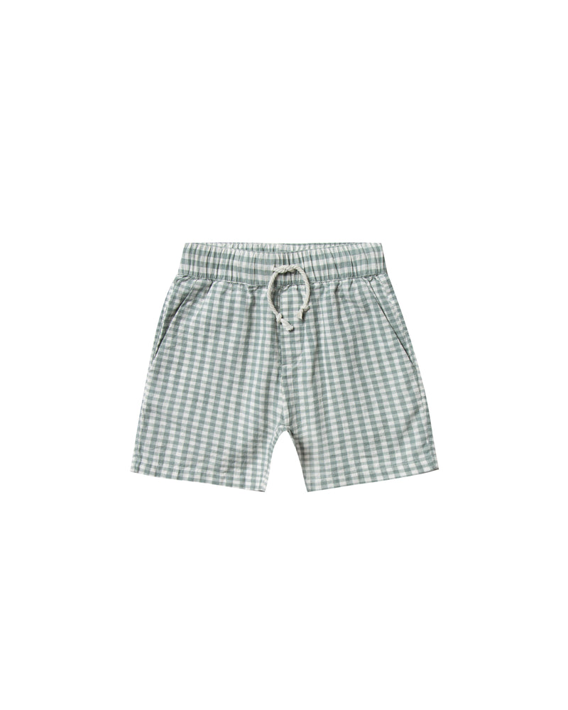 Rylee & Cru - Hometown SS20 - Sea Gingham Drawstring Shorts