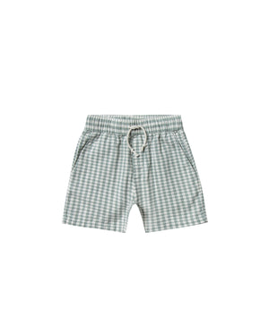Load image into Gallery viewer, Rylee & Cru - Hometown SS20 - Sea Gingham Drawstring Shorts