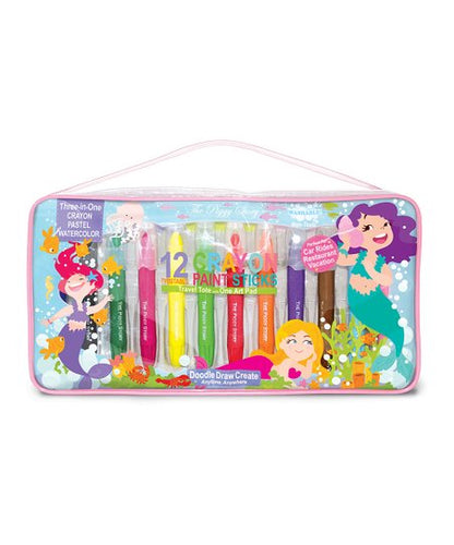 The Piggy Story - Magical Mermaids Crayon Paint Sticks Travel Tote