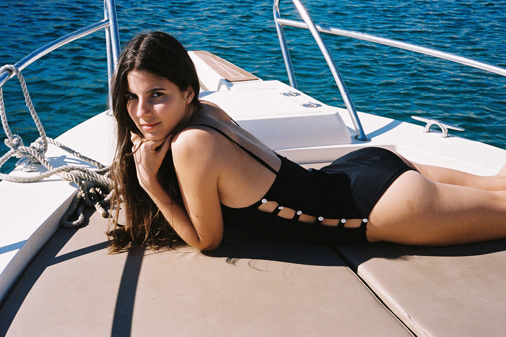 Ancora Tu Swimsuit Black Swarovski
