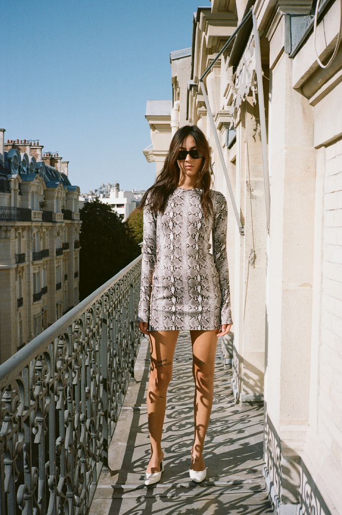 Twiggy python print dress