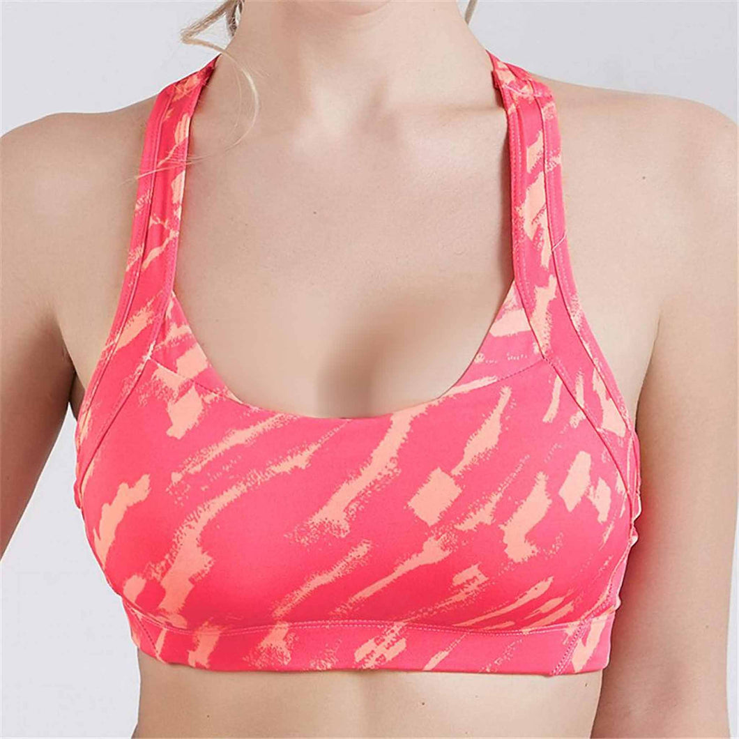 Empower Sports Bra Rose Red Front
