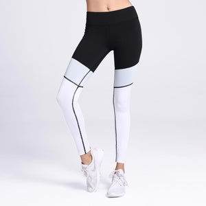 Incline Color Block Leggings Black Front