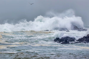 Pacific Ocean during a raging winter storm