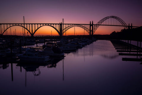 Yaquina Bay Bridge, Newport, Oregon - Final Light