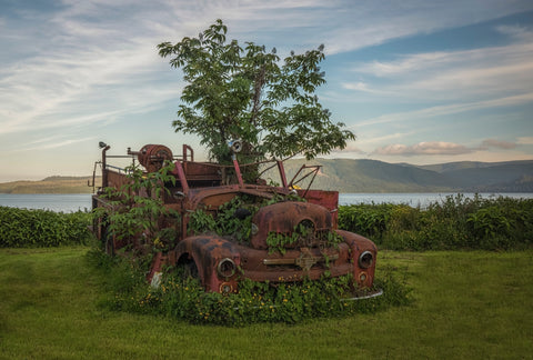 'Old Fire Truck' - Skidegate, BC