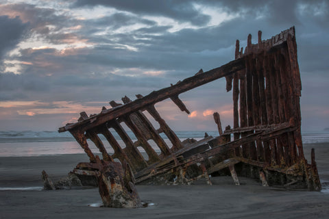 The Wreck of the Peter Iredale - Fort Stevens State Park, Warrenton, Washington