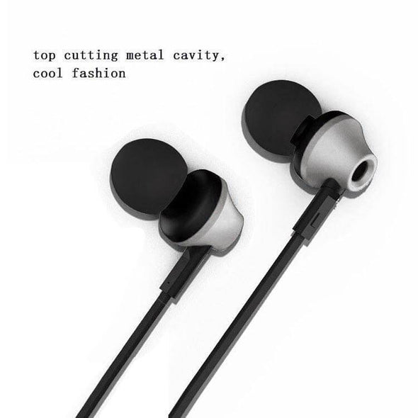 HBE9 Headphone Stereo In Ear Earphone With 3.5mm Jack For All Smartphones (silver)