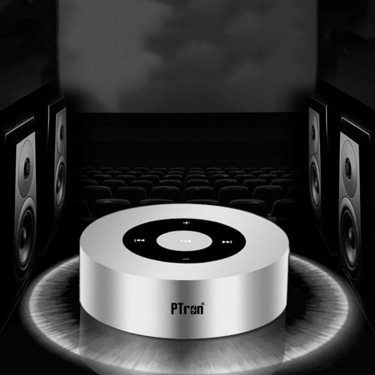 Black PTron Sonor Portable Wireless Bluetooth Stereo Speaker with Bass Sound