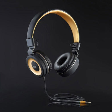 Mamba Stereo Wired Headphone with Mic For All Smartphones (Black/Gold)