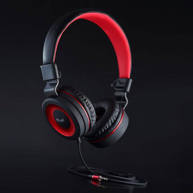 Mamba Stereo Wired Headphone with Mic For All Smartphones (Black/Red)