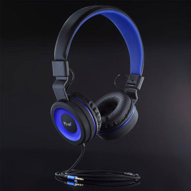 Mamba Stereo Wired Headphone with Mic For All Smartphones (Black/Blue)
