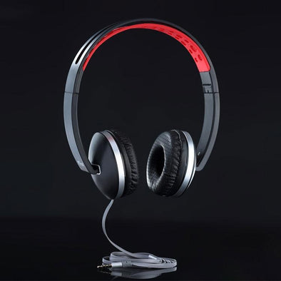 Rebel Stereo Wired Headphone with Mic For All Smartphones (Red/Black)