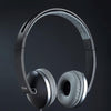 Rebel Stereo Wired Headphone with Mic For All Smartphones (Black/Grey)