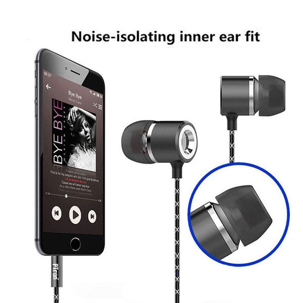 Flux In-Ear Stereo Headphone with Noise Cancellation for All Smartphones(Black)