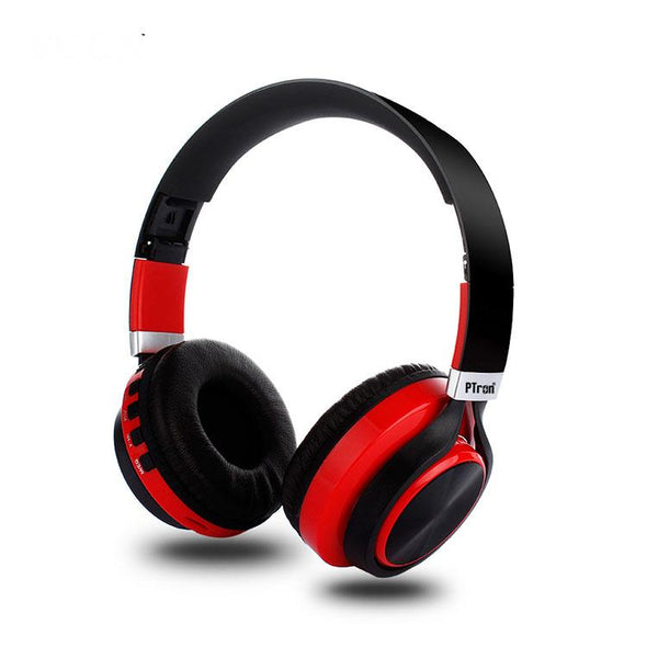 Kicks Bluetooth Headset Wireless Stereo Headphone With Mic For All Smartphones (Red)