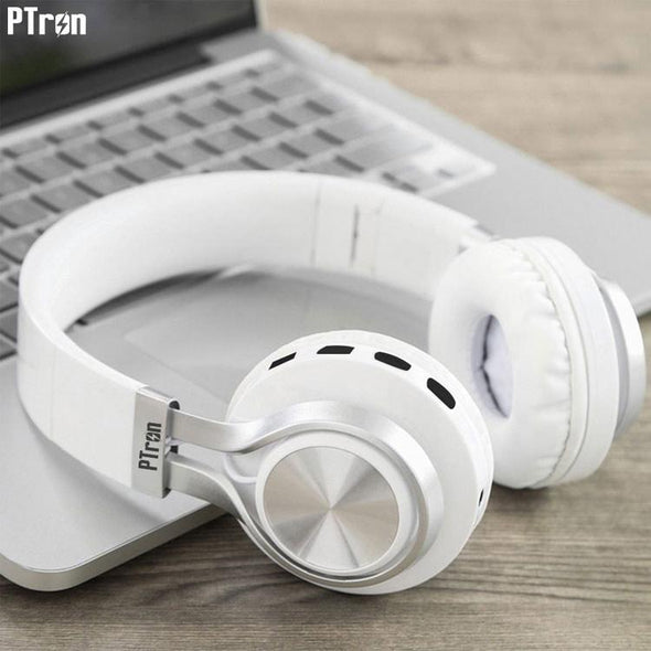 Kicks Bluetooth Headset Wireless Stereo Headphone With Mic For All Smartphones (White)