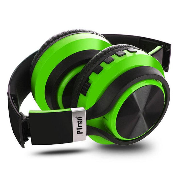 Kicks Bluetooth Headset Wireless Stereo Headphone With Mic For All Smartphones (Green)