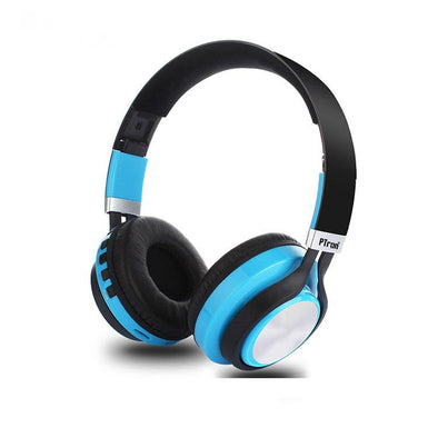 Kicks Bluetooth Headset Wireless Stereo Headphone With Mic For All Smartphones (Blue)