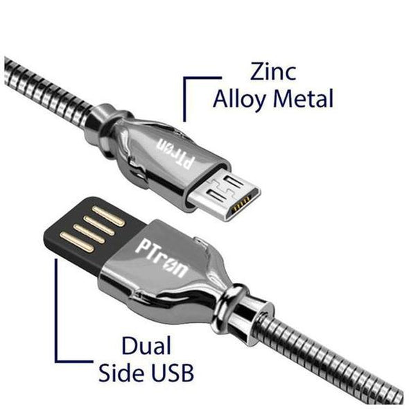 Falcon Pro 2.1A USB To Micro USB Metal Data Cable For Android Smartphones (Black)