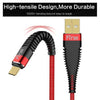Gravita 2A Type C USB Data Cable Gold Plated Charging Cable For Type C Smartphones (Red)