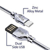 Falcon Pro 2.1A USB To Type C Metal Data Cable For All Type C Smartphones (Silver)